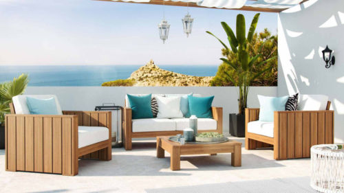 Holz Polyrattan Lounge Set Gartenmobel Loungegruppe Terrasse Design Tahire Ebay Polyrattan Lounge Set Gartenmobel Loungegruppe