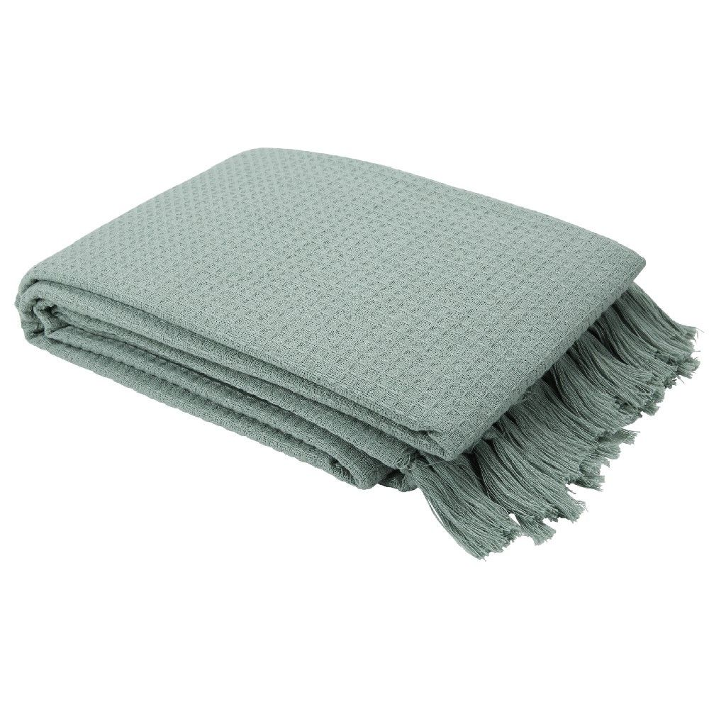 Decoration Textile Pas Cher Gifi Jete De Canape Nid D Abeille Parure De Lit