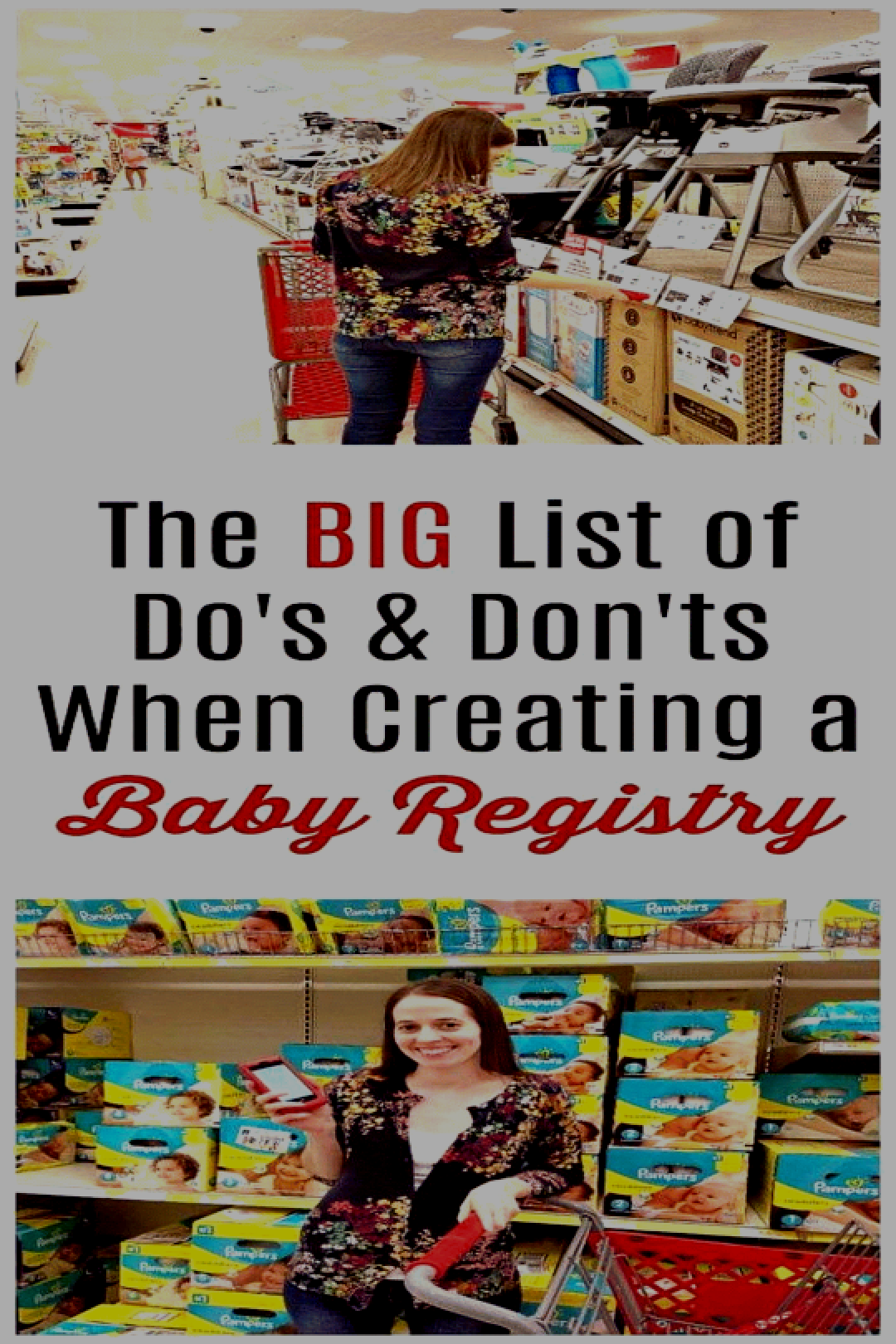 Great info to help you create your baby registry at Target ...