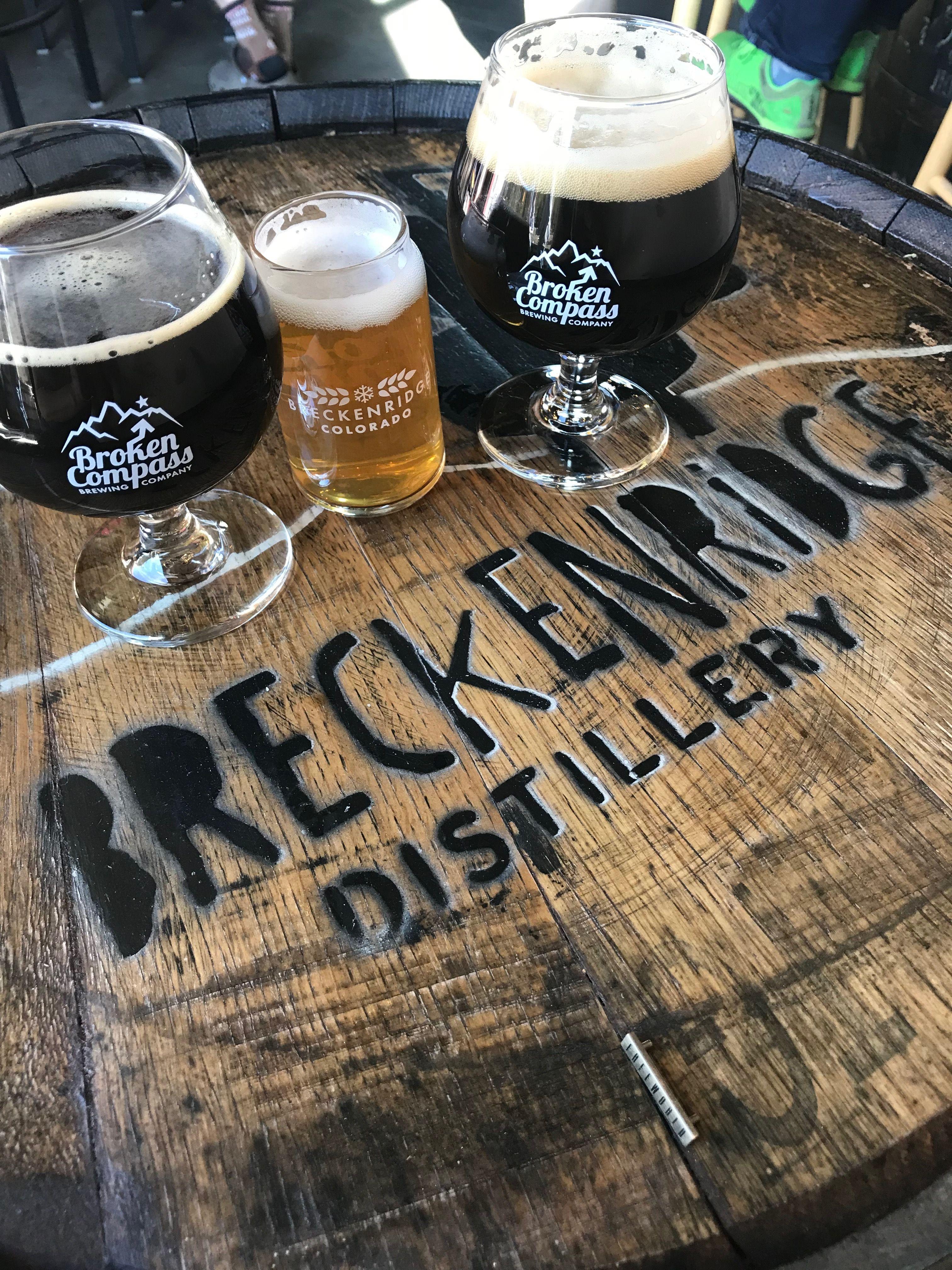 BROKEN COMPASS COMPANY BREWERY BEER STICKER Breckenridge Colorado Brew Brewing