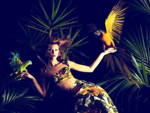 rich Activate As  Fashion Jungle | Tropical fashion, Harpers bazaar, Editorial fashion