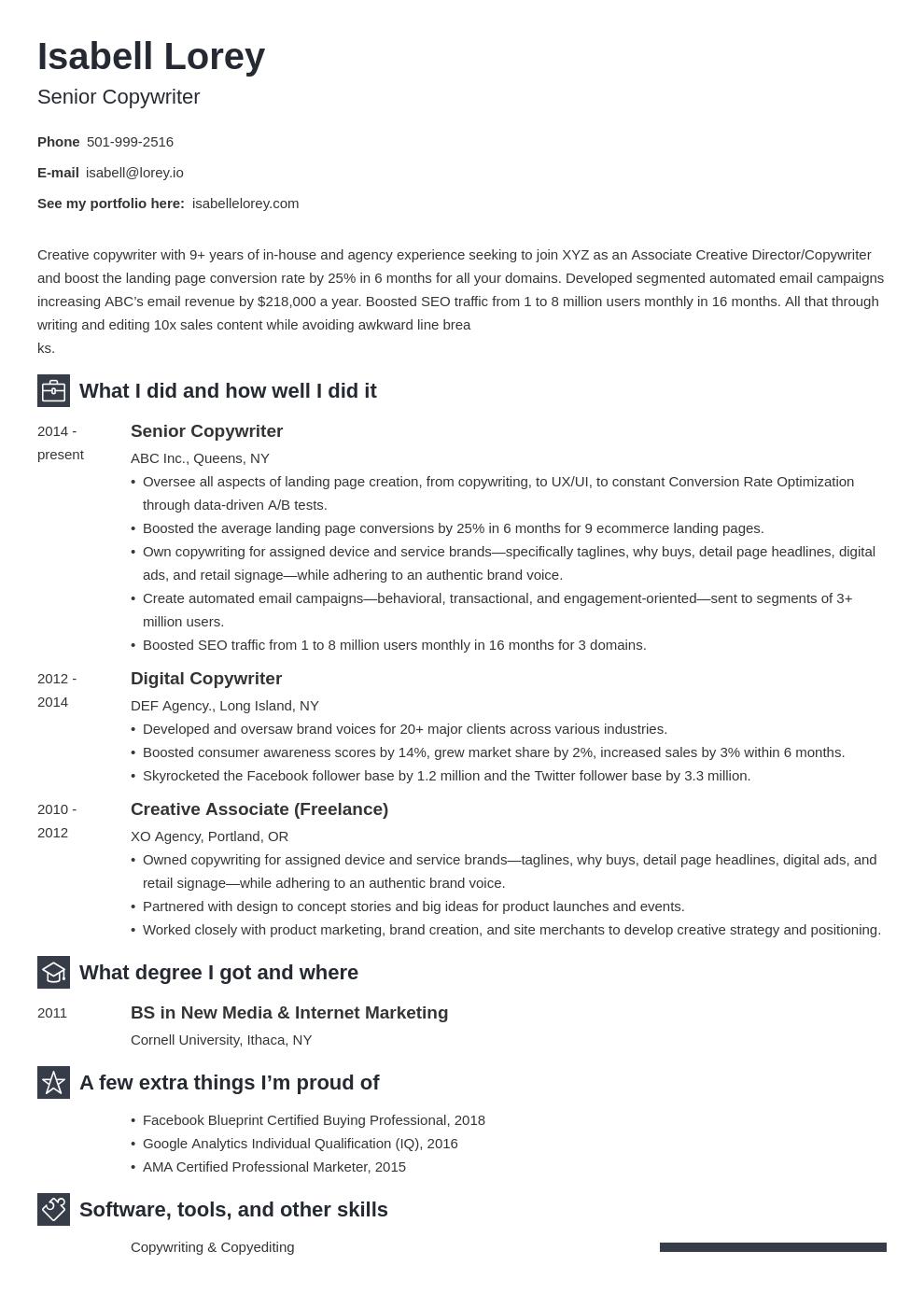 Copywriter Resume Example Template Newcast Resume Examples Job Resume Examples Copywriting