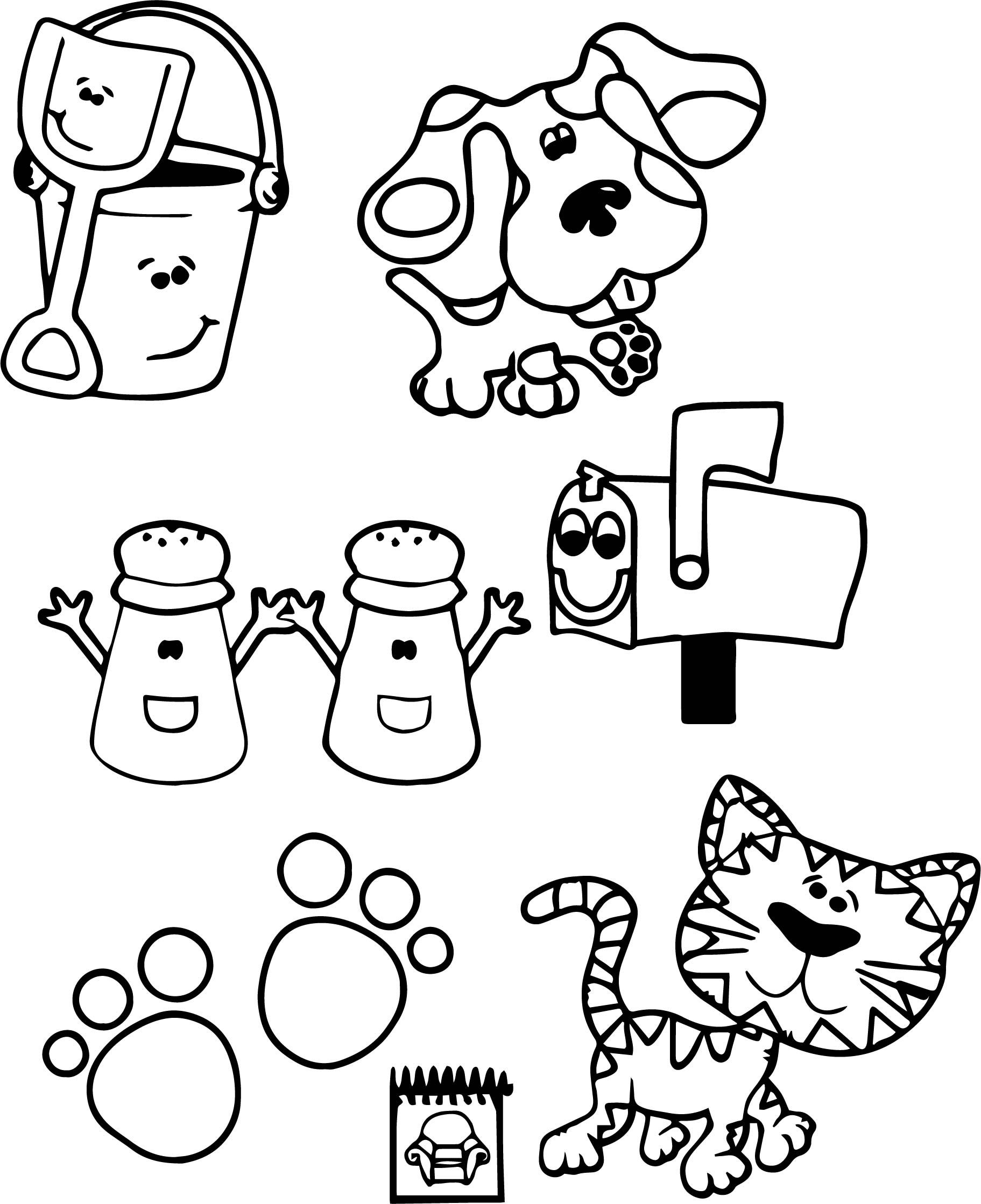 Free Printable Blues Clues Coloring Pages For Kids Nick Jr Coloring Pages Coloring Pages For Kids Free Coloring Pages