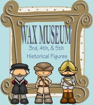 A wax museum is the perfect way for students to learn about the important historical figures embedded within the standards! This packet includes a 3 week teacher outline, poster rubric, informational essay rubric, wax museum oral presentation rubric, student sign-up sheet, student information sheet, Wax Museum parent letter, Night at the Museum parent letter, Optional paragraph outline page, and a list of the important 3rd, 4th, & 5th grade historical figures for students to choose from.