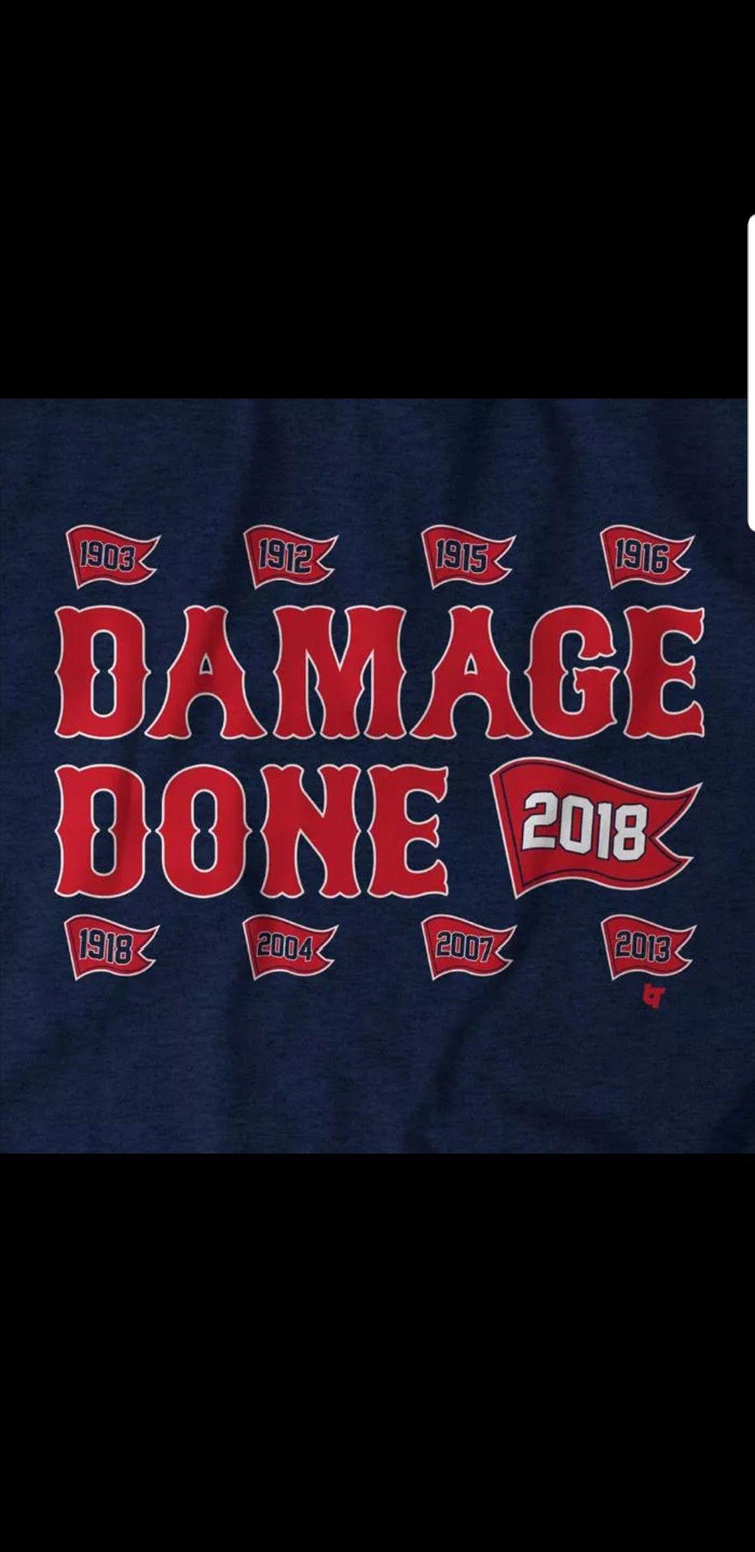 Boston Red Sox World Series 2018 Champions DamageDone iphone case