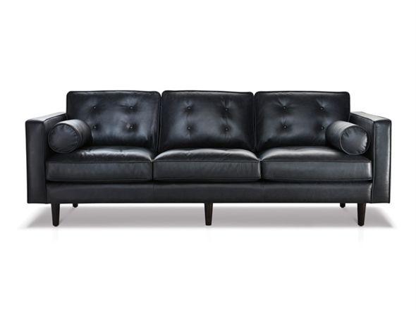 Copenhagen 3 Seat Sofa Bay Leather Republic Like Style