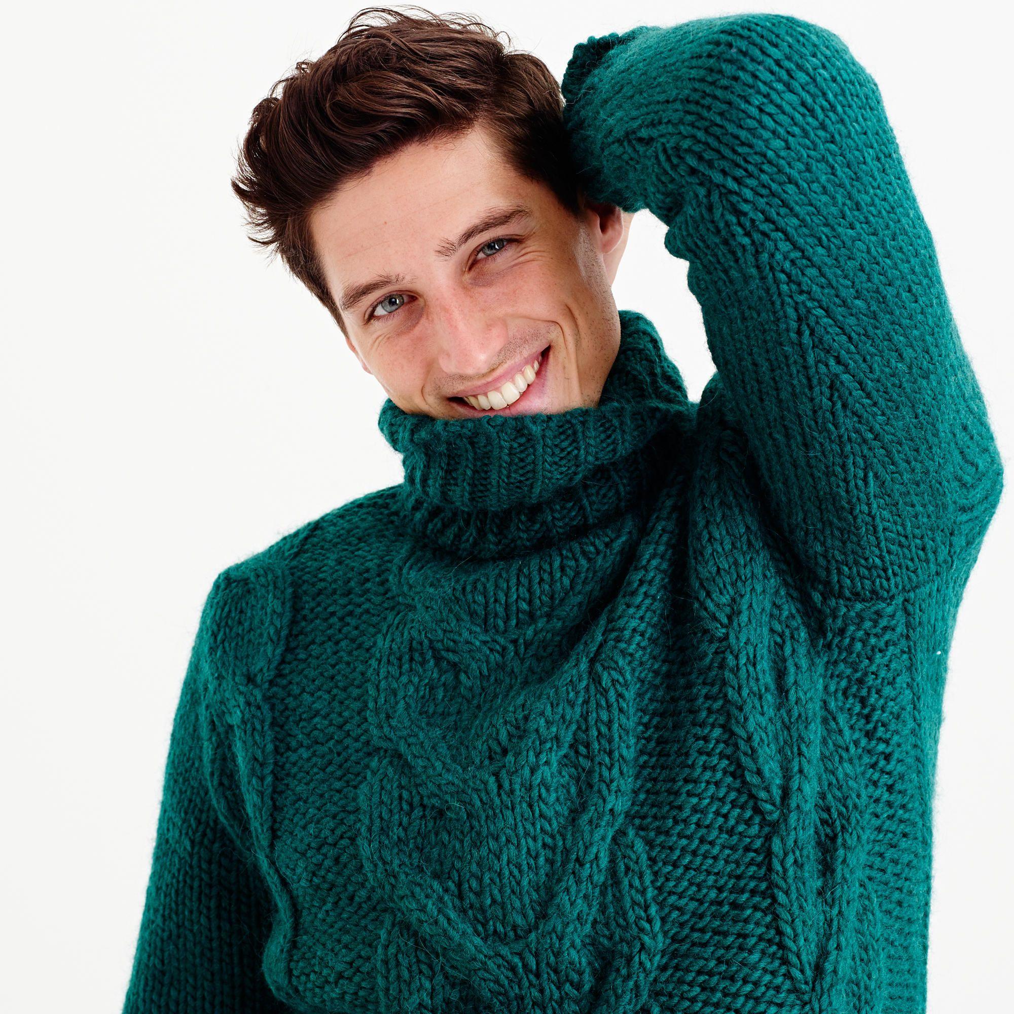 Image Result For Mens Chunky Turtleneck Sweater Men In Turtlenecks