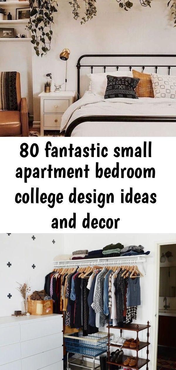 80 fantastic small apartment bedroom college design ideas and decor #smallapartm...#apartment #bedroom #college #decor #design #fantastic #ideas #small #smallapartm