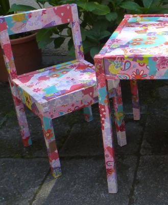 decoupage kids table
