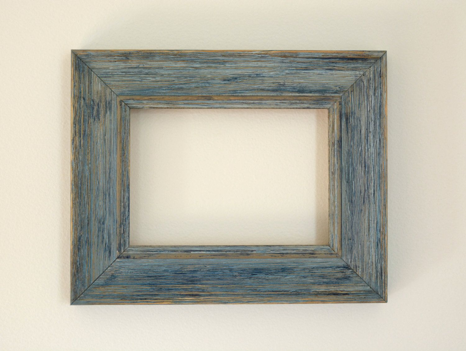 Homemade Rustic Picture Frames Farmhouse Distressed 5x7 Blue Picture Frame Rustic Picture Frame