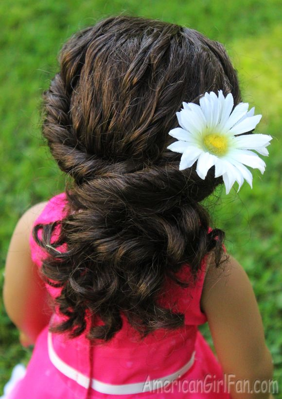 American Girl Doll Hairstyle Twisted Ponytail For Curly Hair