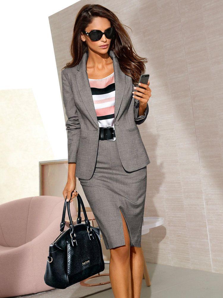 veste de tailleur classique femme gris chin pantalon. Black Bedroom Furniture Sets. Home Design Ideas