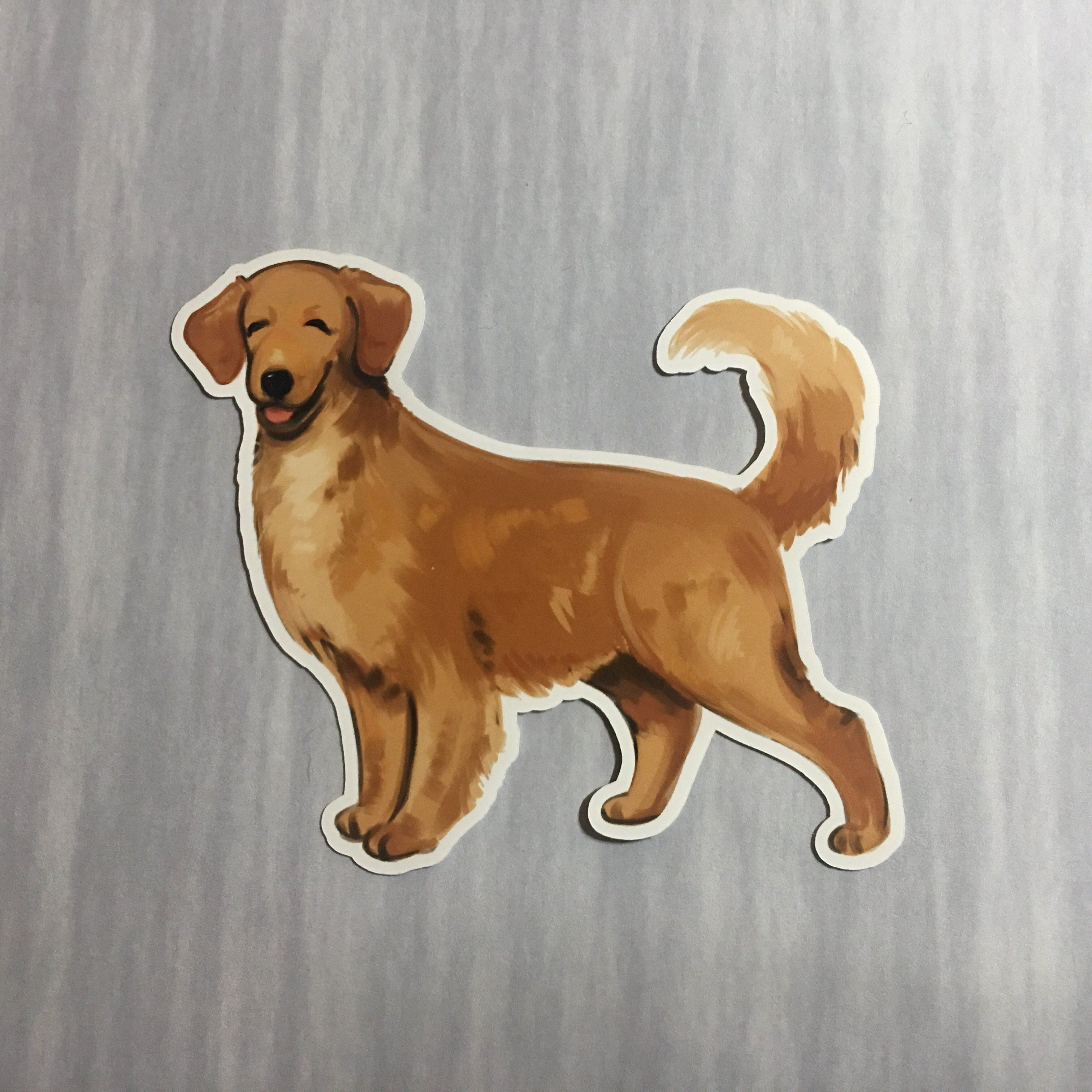 Golden Retriever Sticker Golden Retriever Dog Stickers Golden Dog