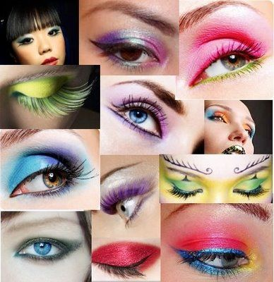 Dramatic colored eyeshadow