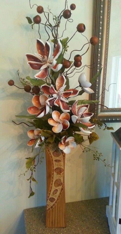 Cut shell flower arrangement
