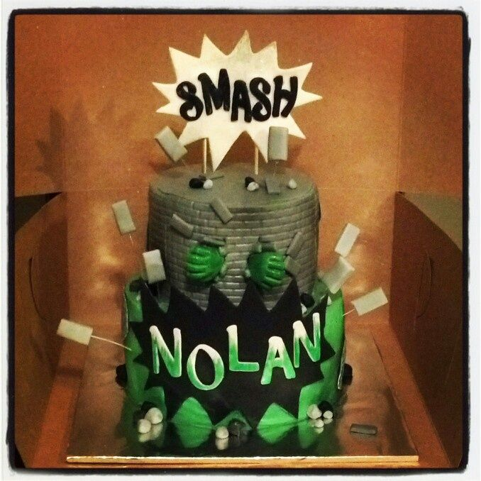 Incredible Hulk Smash Cake By Omnislash083 On DeviantART cake