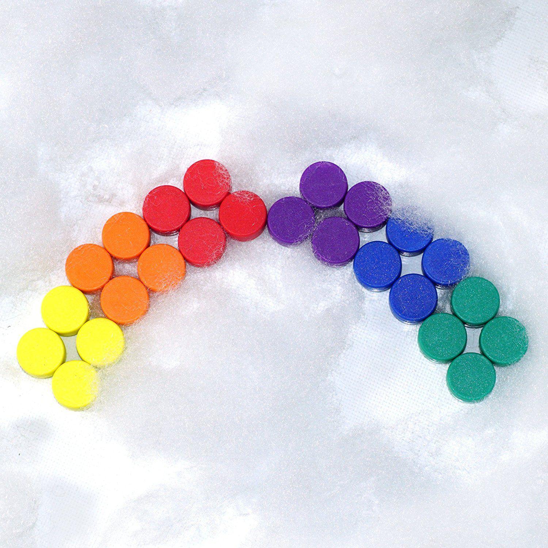 24 farbenfrohe Magnete - Rainbow fürs Büro und den Kühlschrank ...