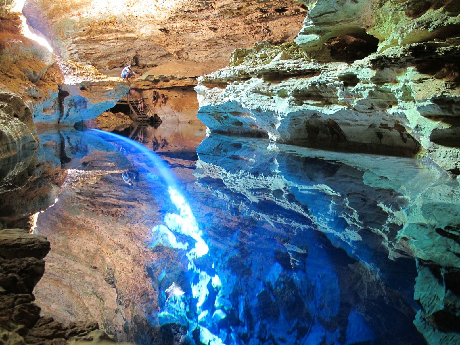 Poco Encantado Cave In Chapada Diamantina National Park
