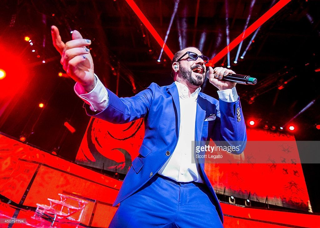 A. J. McLean of the Backstreet Boys performs at DTE Energy Music Theater on June 17, 2014 in Clarkston, Michigan.