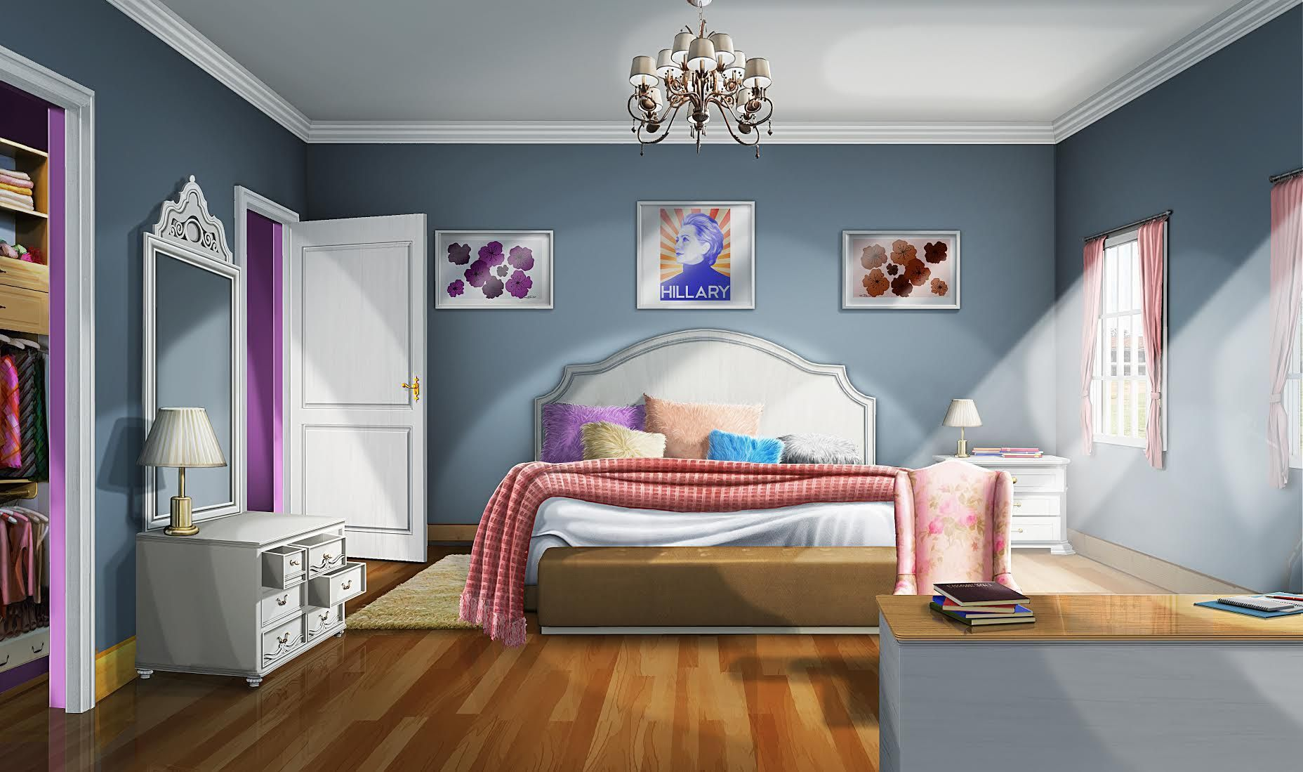 Room Background: INT. BRISTOLS BEDROOM - DAY