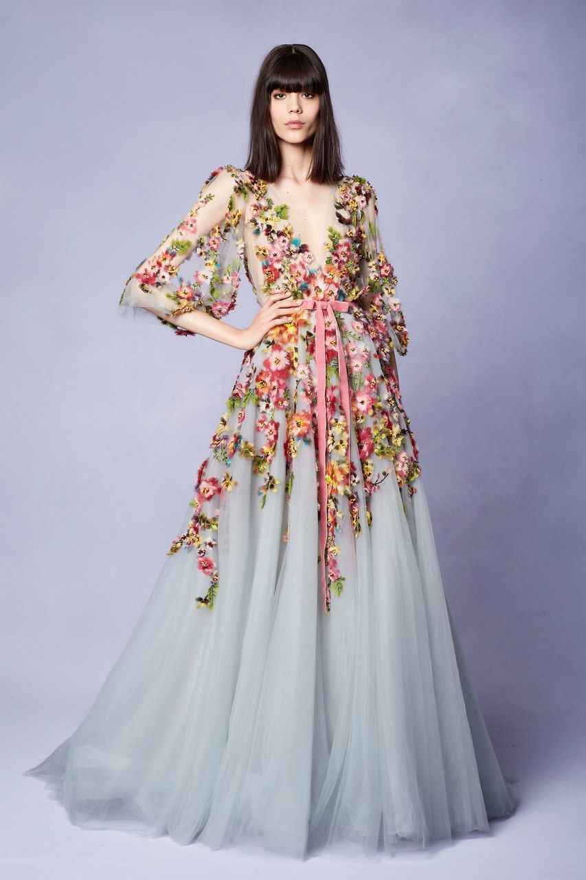 11346edcd9d Marchesa Resort 2018 Look 13 in 2019 | Fashion | Dresses, Fashion ...