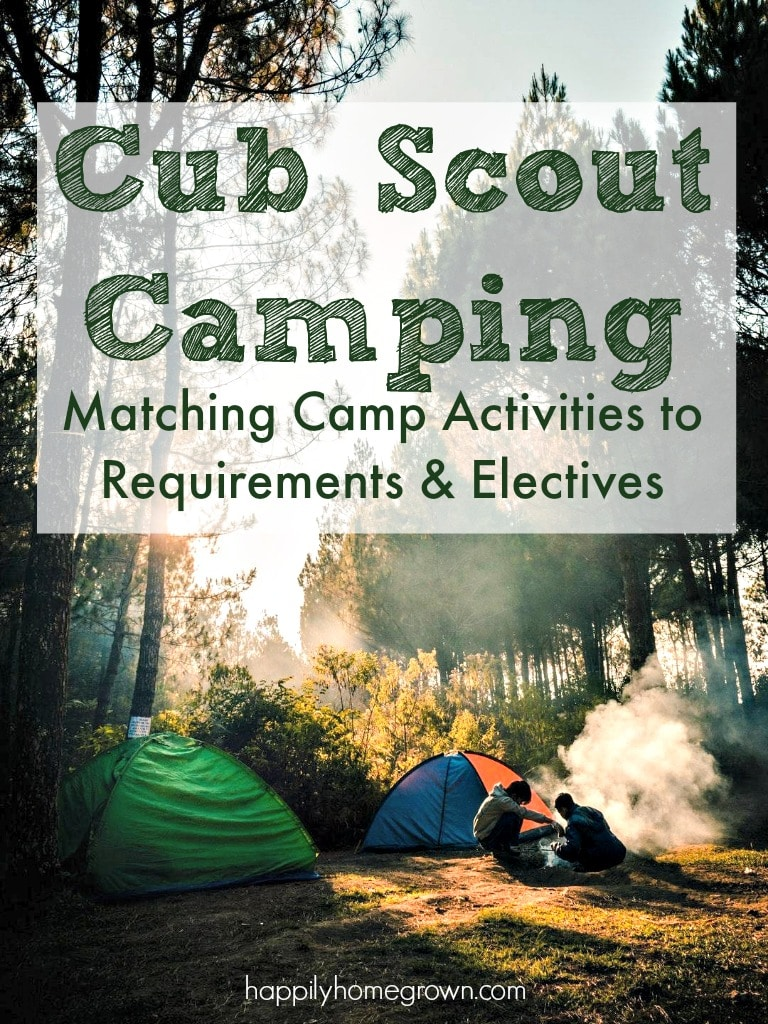 Cub Scout Camping: Matching Camp Activities to Requirements & Electives