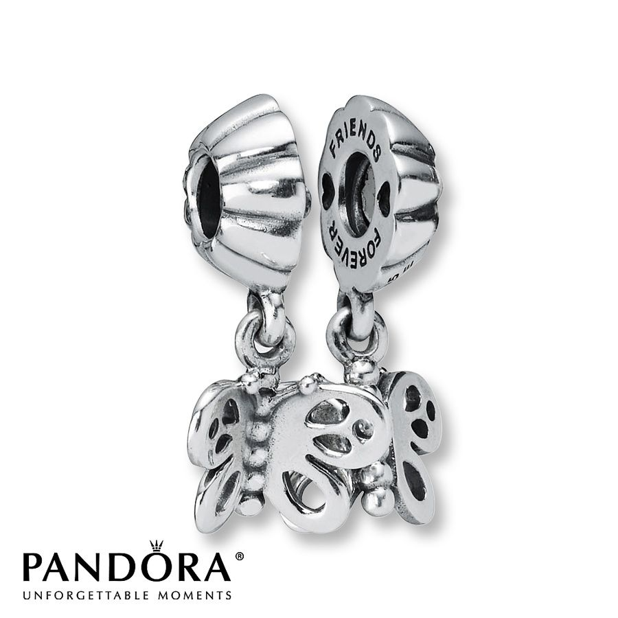 Jared Pandora Dangle Charm Butterfly Sterling Silver Best friends