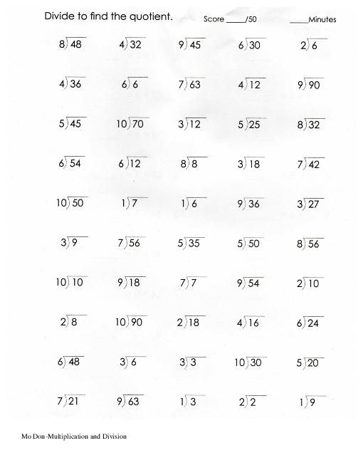 Related image   Multiplication, division worksheets ...
