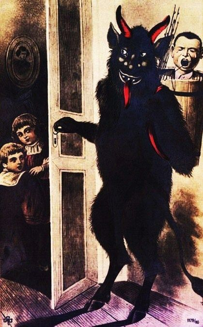 Krampus things that go bump in the night Pinterest Christmas