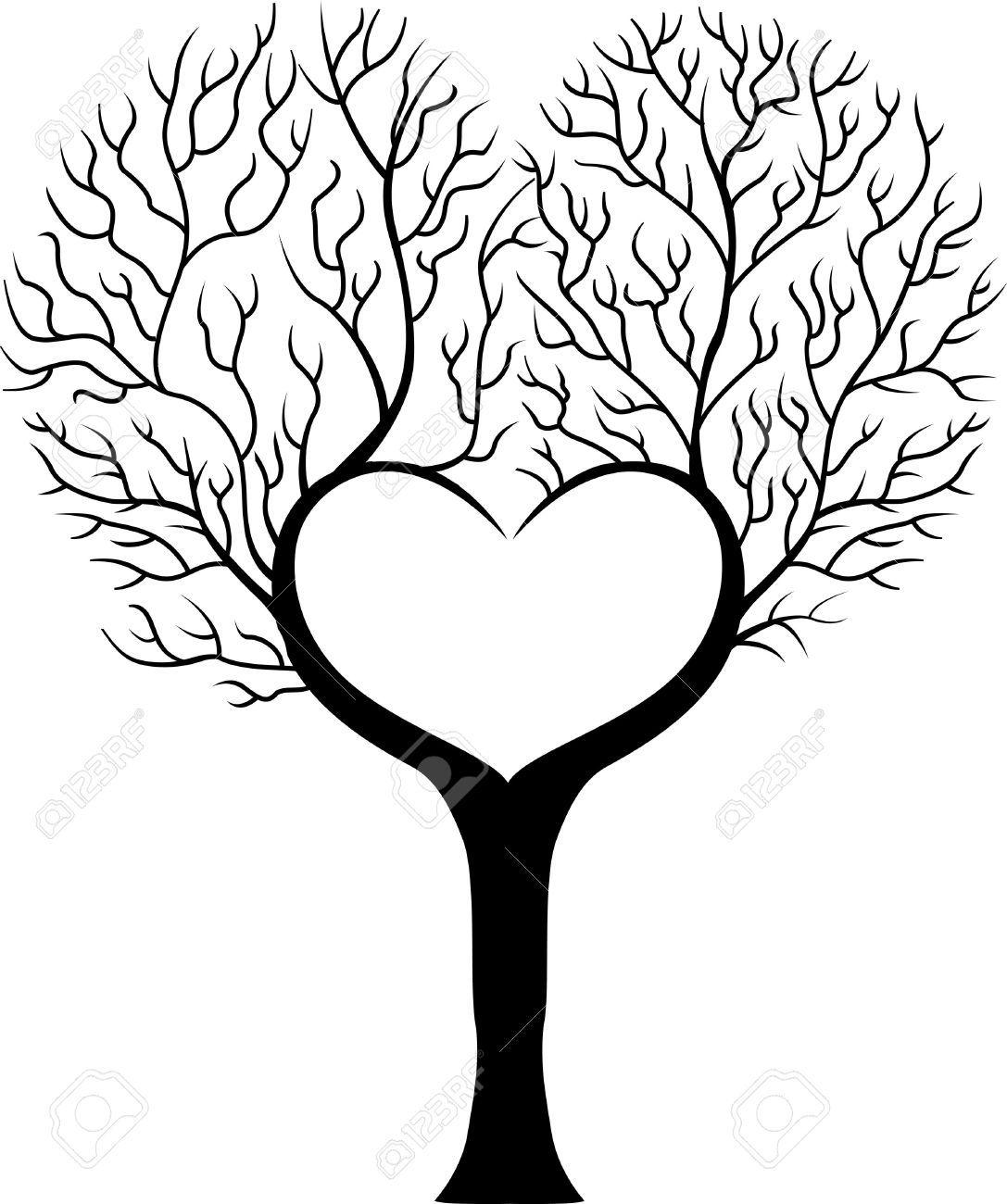 Tree Branch Cartoon In Shape Of Heart Cartoon Trees Tree Branches Vector Art Download tree cartoon branch stock vectors. cartoon trees tree branches vector art