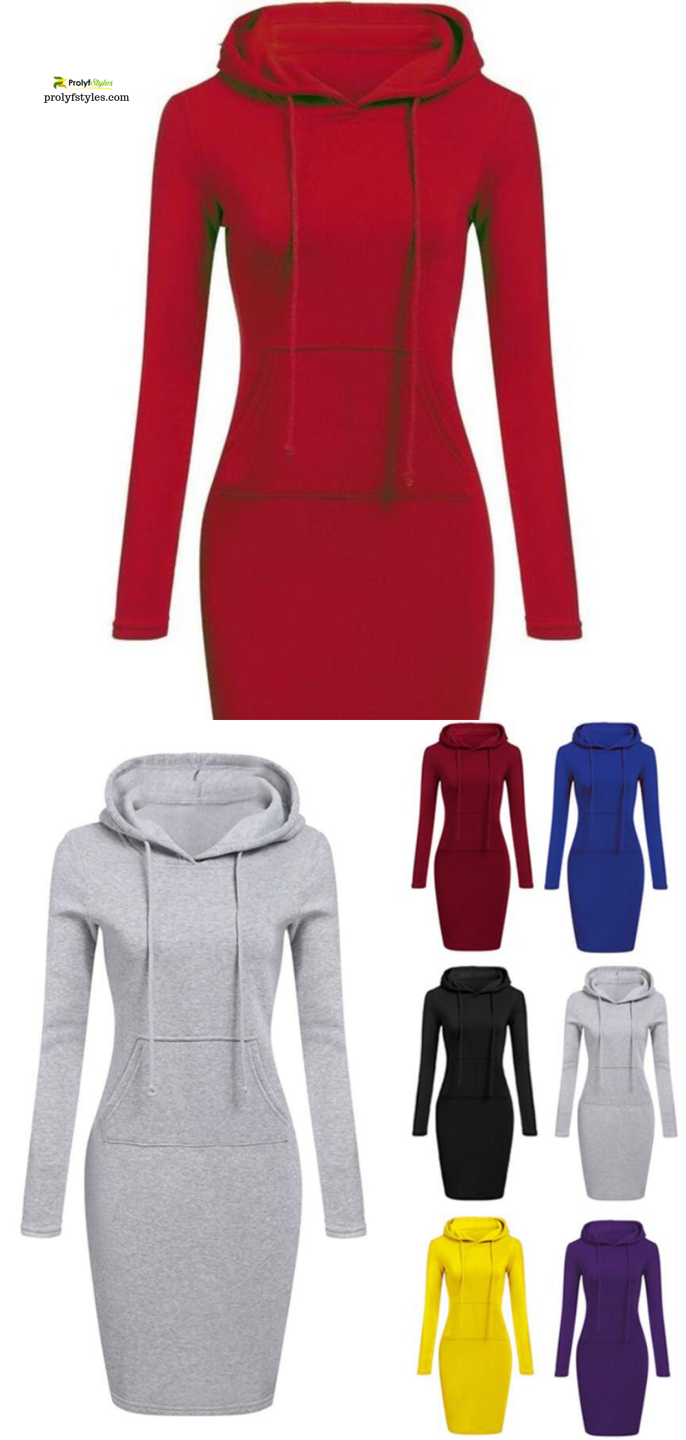 Shop Long Sleeve Hoodie Dress Online From Prolyfstyles Com Casual Day Dresses Casual Pullover Outfit Hoodie Dress [ 2100 x 1000 Pixel ]