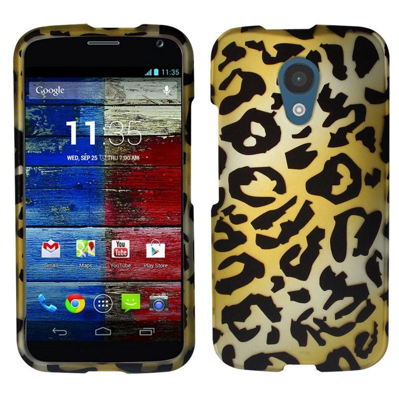 Zizo Motorola Moto G 2nd Gen. Design Hard Cover Case - 2D Cheetah
