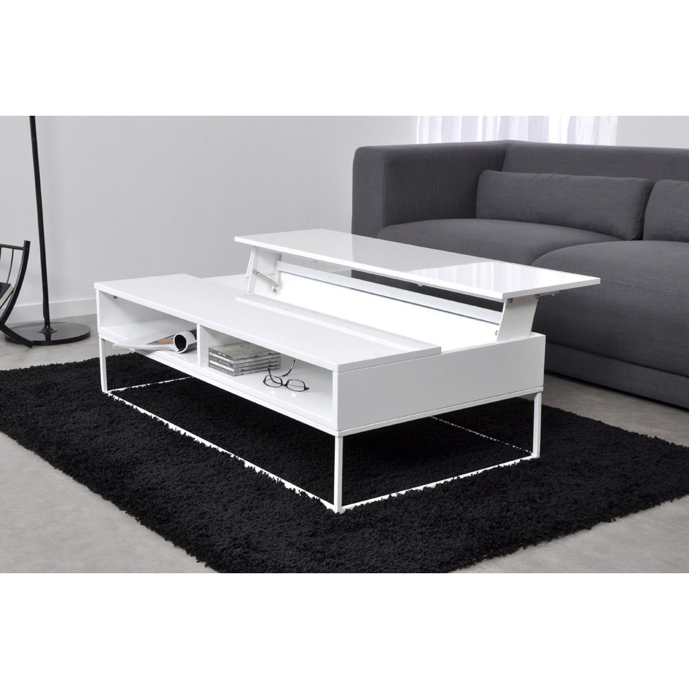 Table basse plateau relevable - Table de salon plateau relevable ...
