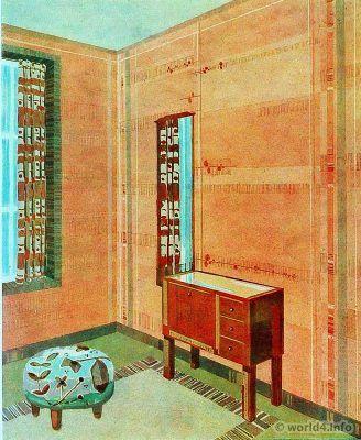 Living room. German Art Deco Interior design, architecture ...