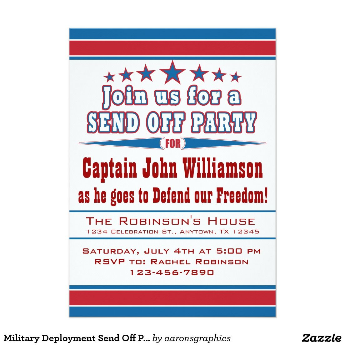 Military Deployment Send Off Party Invitation | Military deployment ...