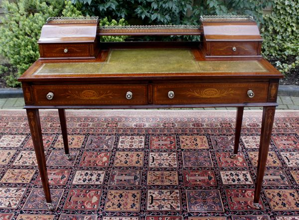 Antique Table / Desk - Mahogany Sheraton Style Desk or Writing Table - Antique Writing Desk - Http://theinterioridea.com/antique-writing