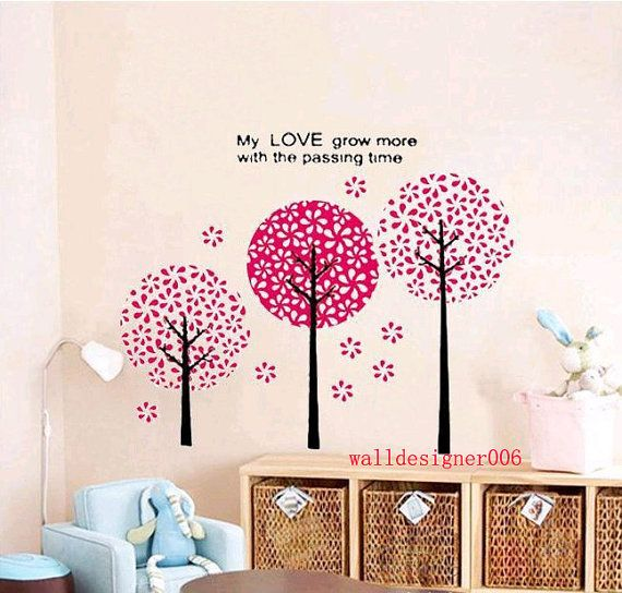 Floral wall decal girl room decor wall decor wall sticker ...