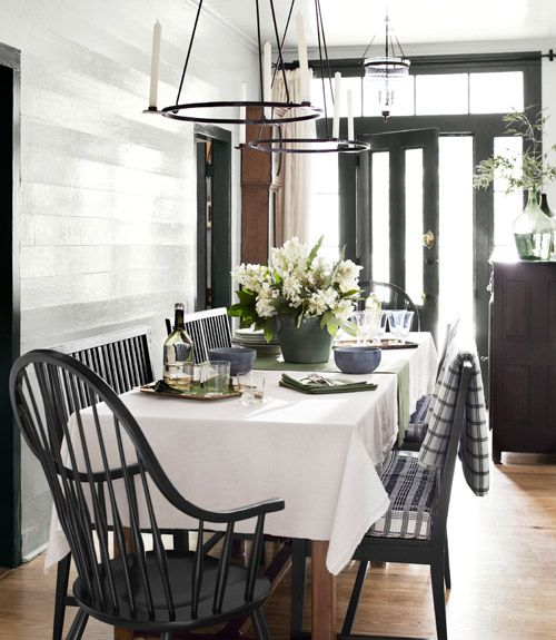 black and white, via Country Living