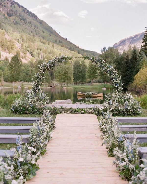 Best Outdoor Ceremony Spots: Top 20 Mountain Wedding Ceremony Decor Ideas