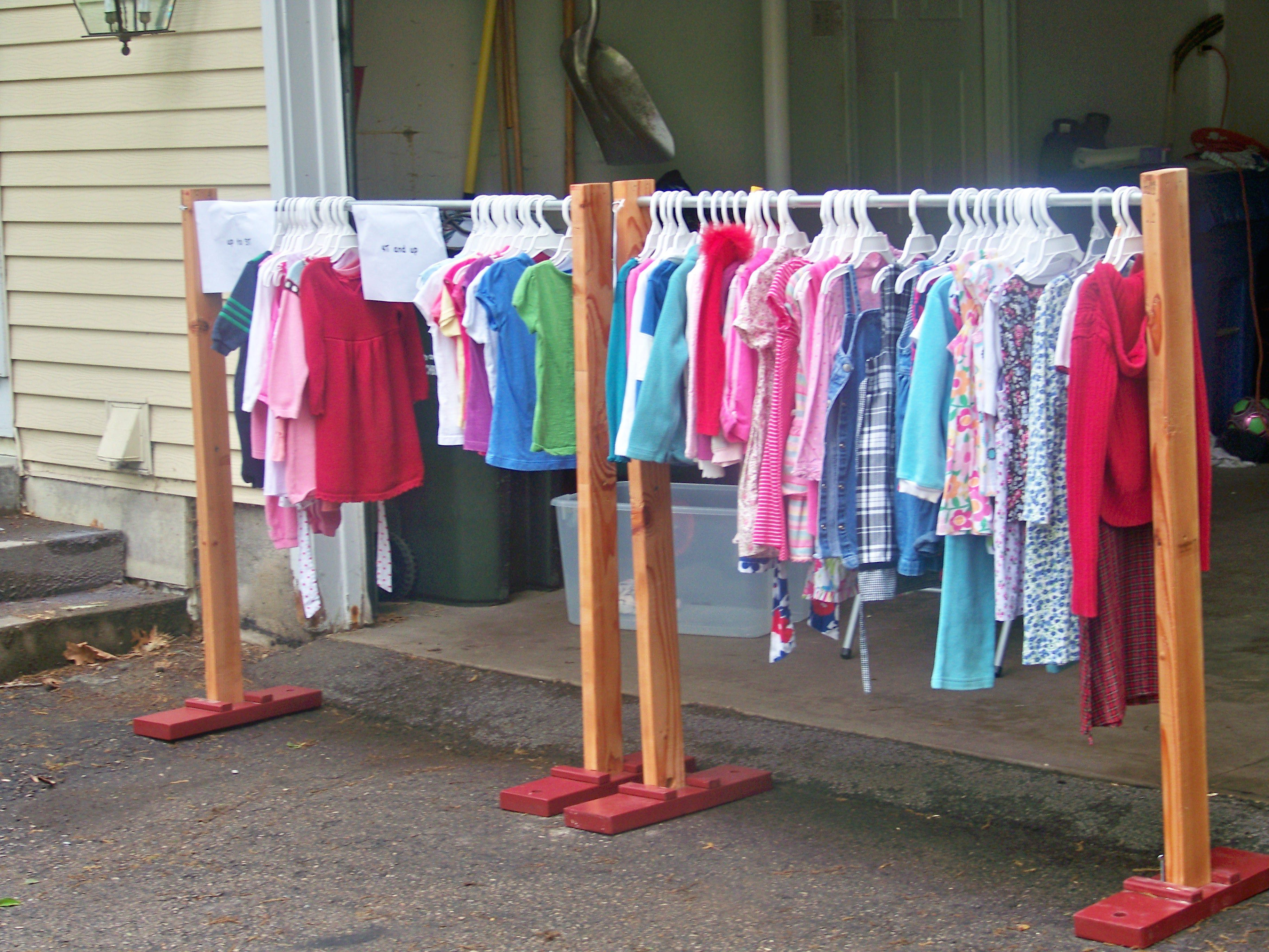 Another Hangouttm Clothes Rack Used At A Garage Sale In The