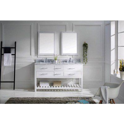 Picture Gallery For Website Virtu USA Caroline Double Sink Bathroom Vanity Cabinet in White MD