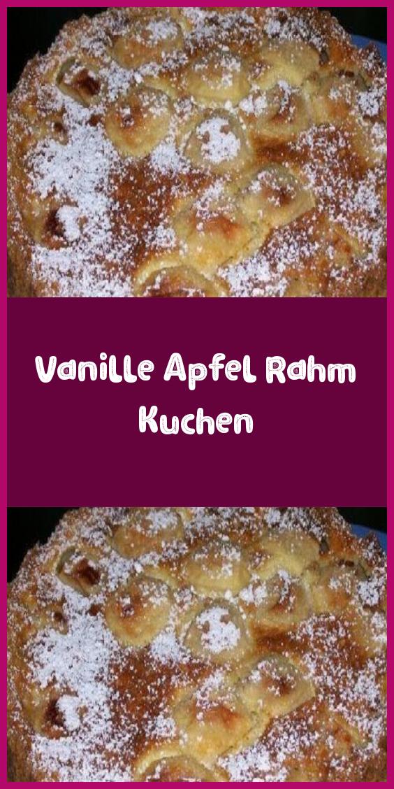 Vanille Apfel Rahm Kuchen