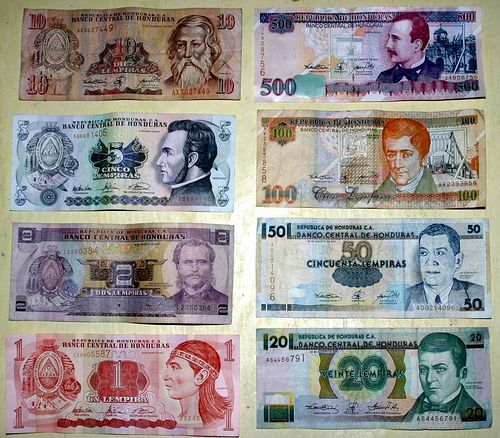 Honduras Money Dollars And Lempiras Ta Interest Part 1