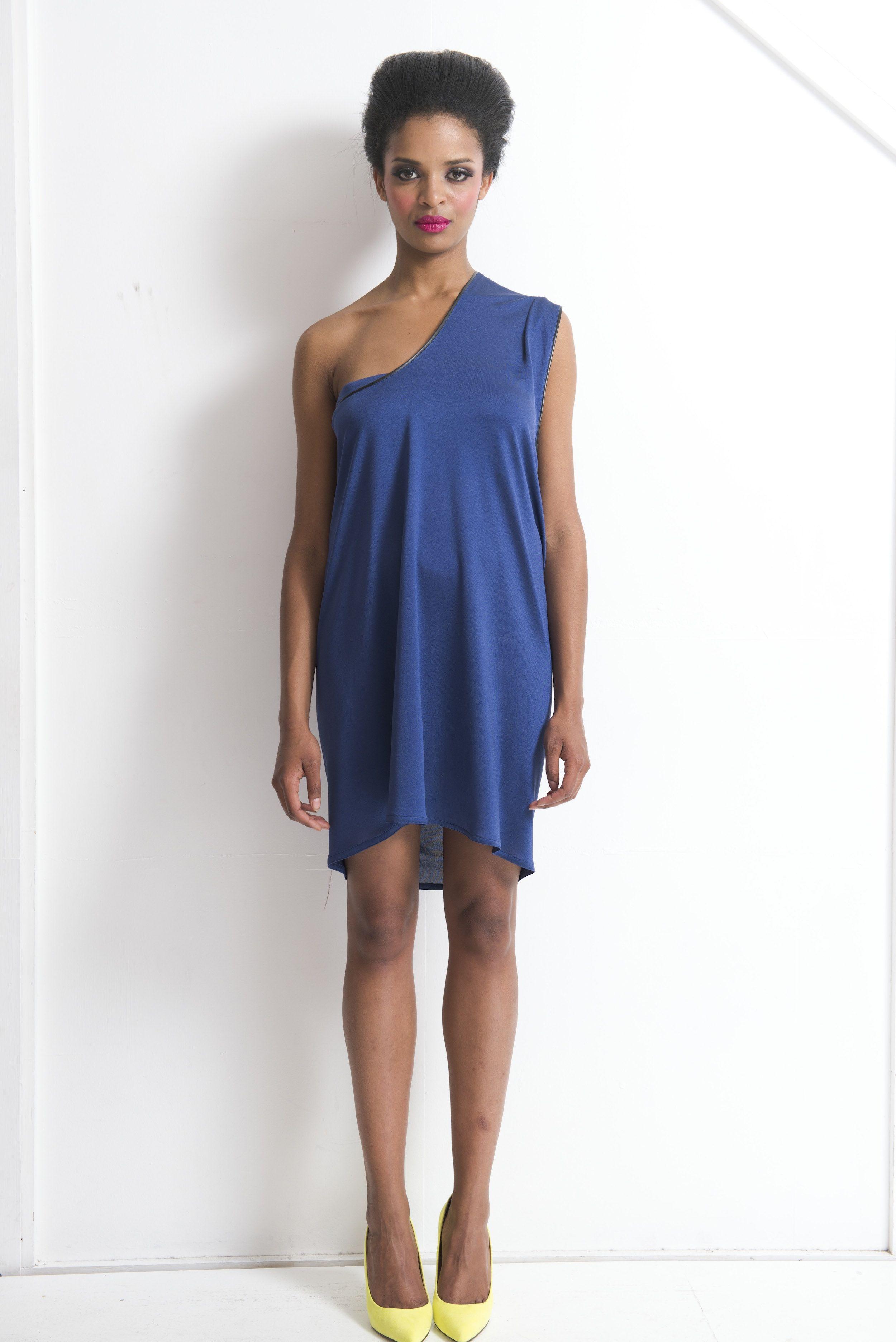 Athens Silk Jersey Leather Dress Fashion Ascot Regatta Asymmetric