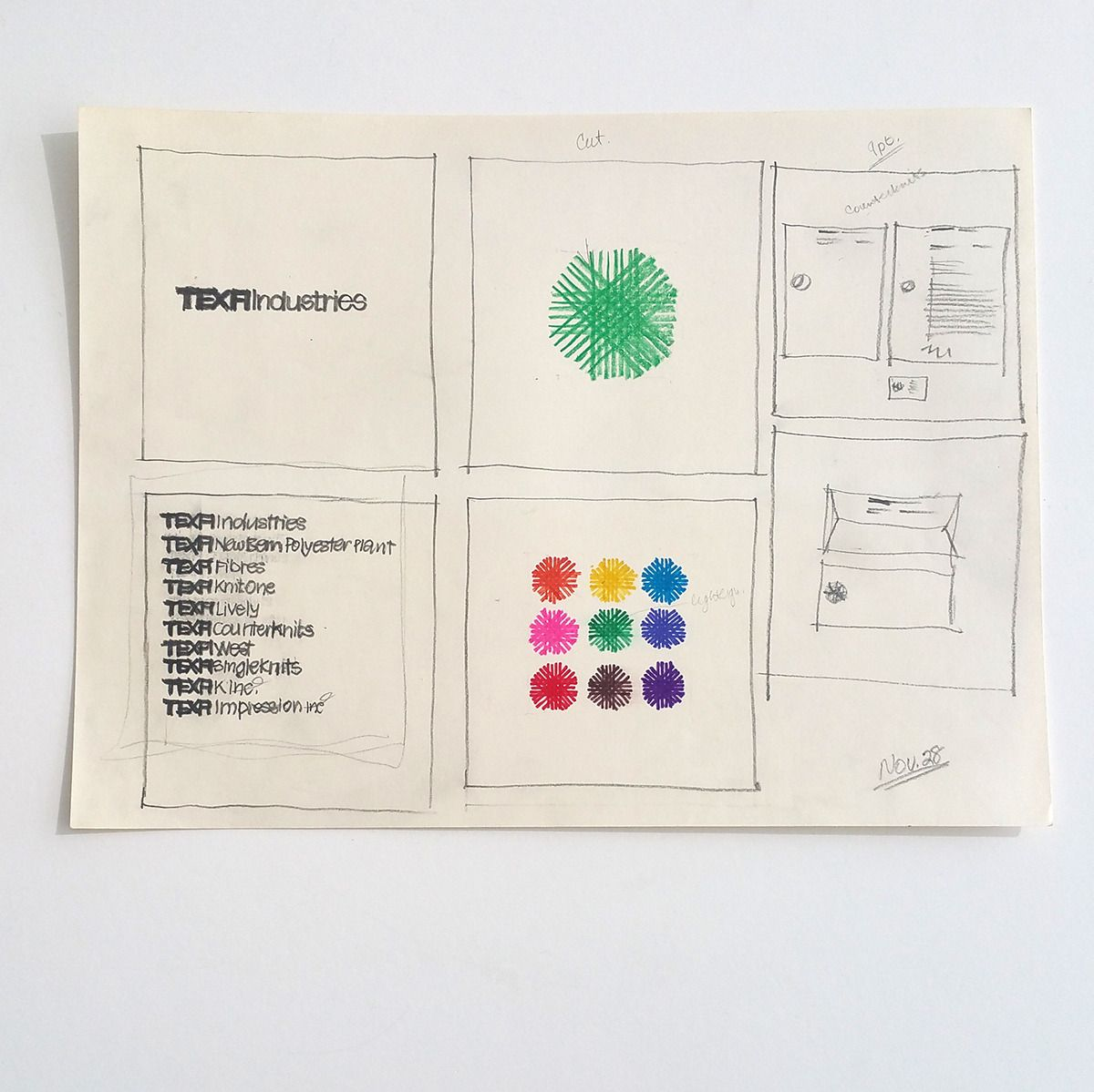 Making of a manual Every Monday we share an excerpt from a graphic  standards manual from the archives. This past Monday we shared the Texfi  (textile ...