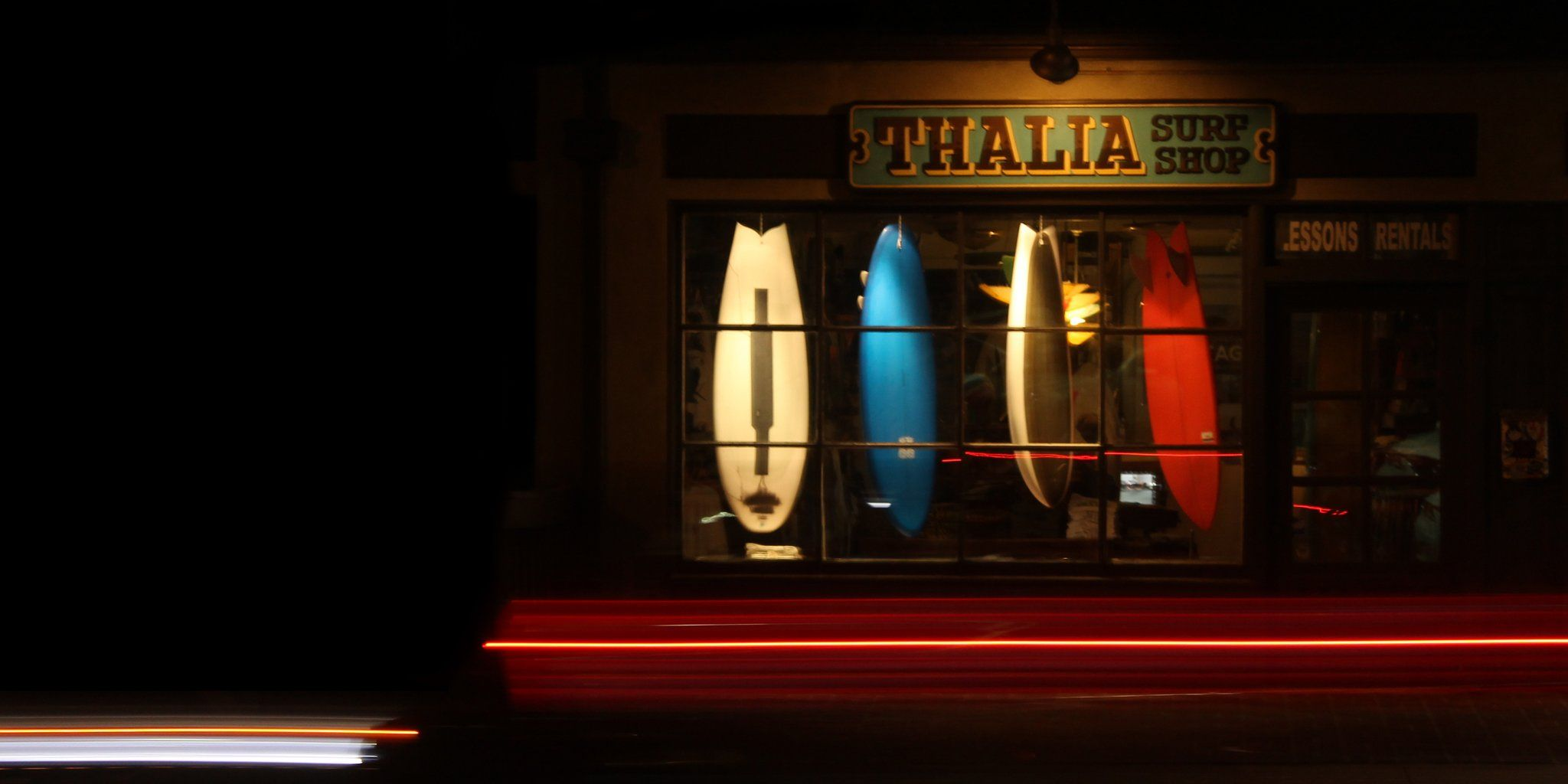Night time out front of Thalia surf shop. 76099ceaee0