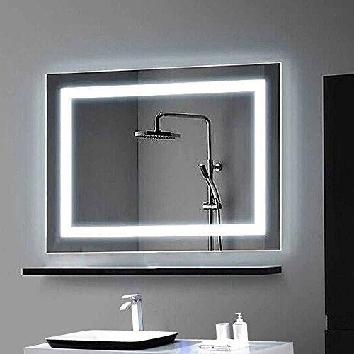 Decoraport Horizontal LED Wall Mounted Lighted Vanity Bathroom - Bathroom vanity light with on off switch