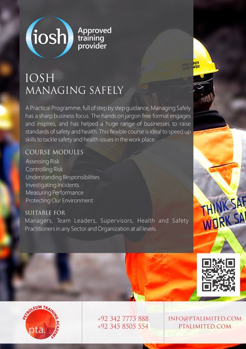 IOSH is a worldleading developer of certificated safety