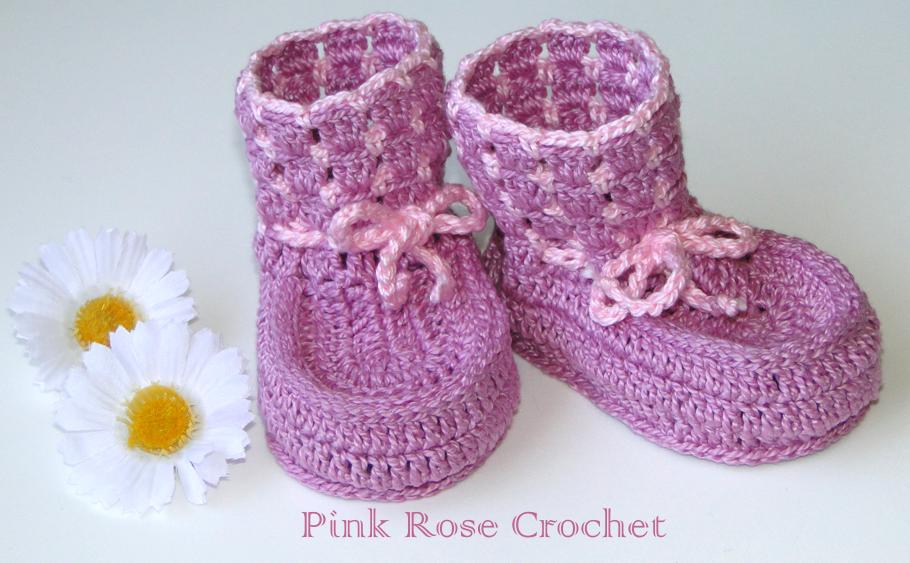 PINK ROSE CROCHET: Sapatinho Lilás e Rosa