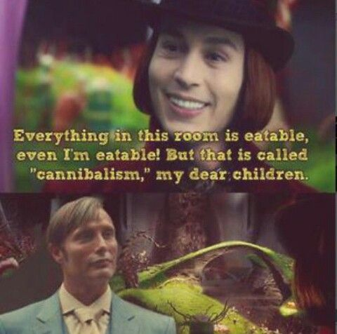 Hannibal Williy Wonka and the chocolate factory crossover,